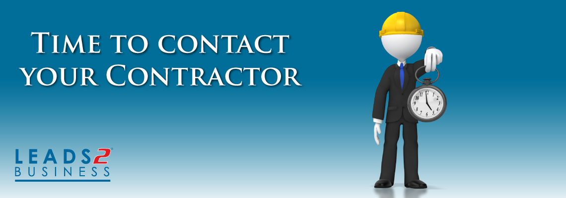 Time to contact your Contractor