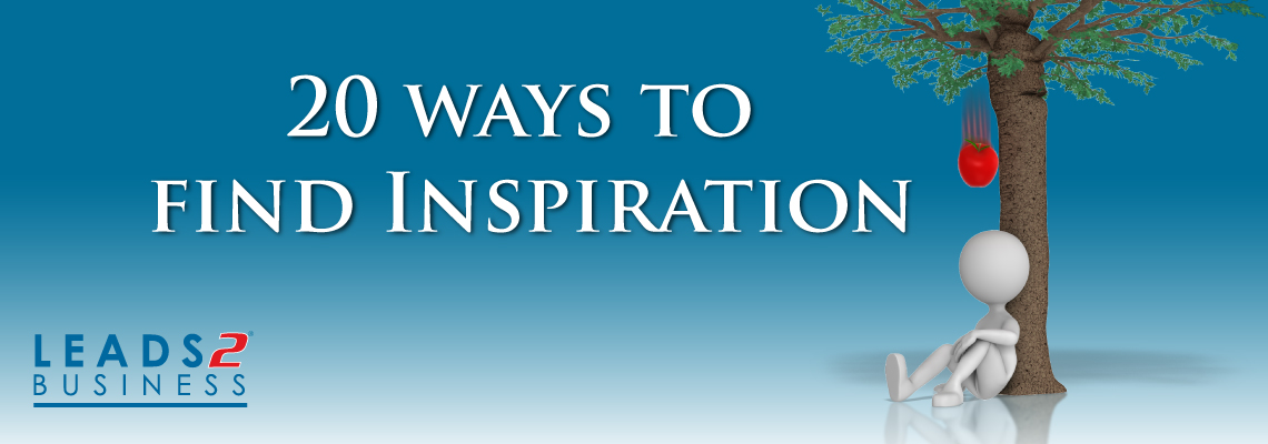 20 Ways to find Inspiration