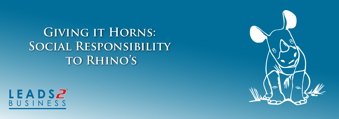 Leads 2 Business : Social responsibility - giving it horns