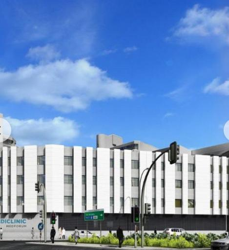 Proposed completed design of Mediclinic Mediforum