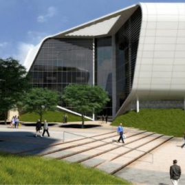 Gateway West Building 1 - Proposed End Product view in between buildings