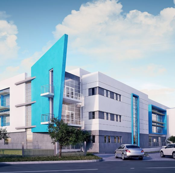 Proposed exterior view for Lenmed Royal Hospital & Heart Centre.