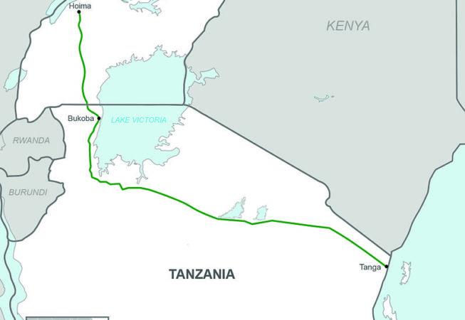 Crude Oil Pipeline, Uganda / Tanzania Map