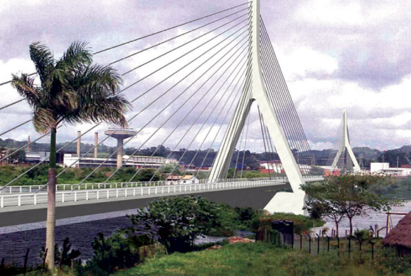 This is an artist's impression of the new Jinja Bridge.