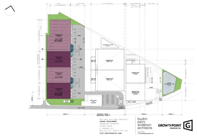 Millroad Park Warehouse Civils architectural drawing