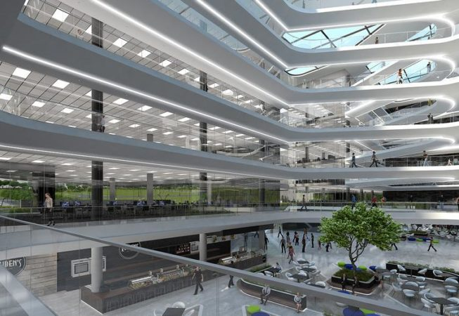 Artist impression of interior for the New Deloitte offices